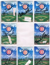 1994 SIGNED CHICAGO CUBS BASEBALL POCKET SCHEDULE LOT of (8) : Cubs Convention
