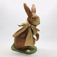 """Bethany Lowe Large 20"""" Brown Rabbit Paper Mache Easter Bunny Decoration Ornament"""