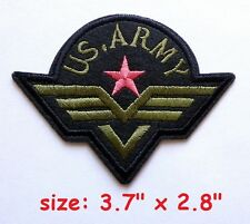 """US ARMY Morale Tactical Iron-On Embroidered Patch Combat Badge 3.7"""" x 2.8"""" Patch"""