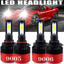 4X AUXITO 9005+9006 LED Headlights Hi/Lo beam 6000K For Honda Odyssey 05-2010 A2