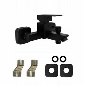 Black Bathtub Shower Mixer Tub Tap Faucet Brass Wall Mounted Bathroom Bath