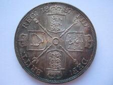 1887 Roman 1 Victoria Double Florin NEF