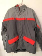 Nike ACG Mens 3 Outer Layer Coat Storm-Fit Gray Orange Waterproof Vented Sz M