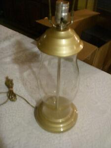 PRINCESS HOUSE HERITAGE GOLD METAL ELECTRIC LAMP