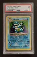 Pokemon Shadowless Blastoise Holo 1999 Base Set 2/102 PSA 7 NM