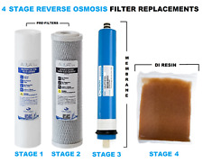 More details for 4 stage ro & di system replacement filters set pre filters resin membrane aquati