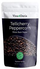 Viva Doria Tellicherry Peppercorn - Whole Black Pepper 12 Oz For Grinder Refill