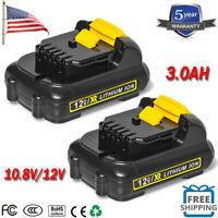 2X for DEWALT DCB120 12 VOLT 3.0AH MAX Lithium Ion Battery DCB120B DCB127 DCB121