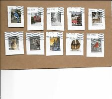 NEW 2020 WINTER SCENES SET OF TEN STAMPS USED ON PAPER