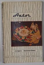 Astor Recipes Instructions vintage retro cookery book great old style cooking VG