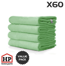 60 X Professional Washable Microfibre Cloths Extra-Large Super Thickness Green
