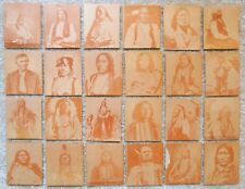 Vintage 1930s R184-2 INDIAN CHIEFS - Complete Set of 24x Strip Cards, #s 101-124