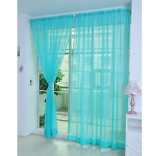 2Pc^Home Floral Tulle Voile Door Window Curtain Drape Panel Sheer Scarf Valances