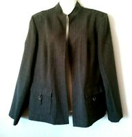 WOMEN'S PERCEPTIONS NEW YORK GREEN OPEN FRONT CAREER JACKET WITH POCKETS 16
