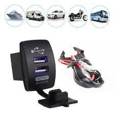 5V 3.1A Dual USB Charger Socket Adapter Power Outlet for 12V 24V Car Motorcycle