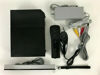 Nintendo Wii Black Video Game Home Console (RVL-101) Bundle with New Accessories