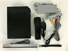 Nintendo Wii Black Video Game Console (RVL-001) Bundle - GameCube Compatible