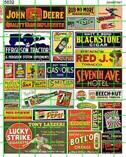 5032 DAVE'S DECALS HO ASSORTED MID CENTURY ADVERTISING SIGNAGE FARM HOME GROCERY