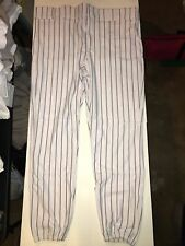 All Star Men's Adult Pinstripe Baseball Pant 2Xl, White/Navy Nwt