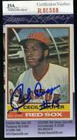 Cecil Cooper 1976 Topps Jsa Coa Hand Signed Authentic Autographed