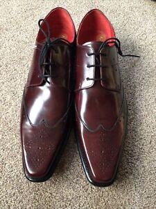 Jeffery West Yardbird Gibson Burgundy Shoes Size 9 F RRP £250