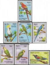 Cambodia 1016-1022 (complete issue) unmounted mint / never hinged 1989 Parrots