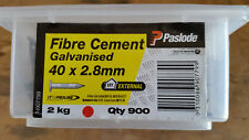 Paslode 40mm x 2.8mm Galvanised Fibre Cement Nails - Builder's supplies - NEW