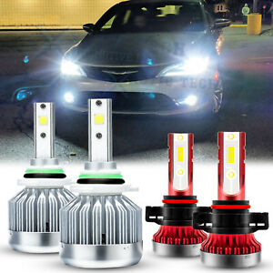 For Chrysler 200 2011 2012 LED Headlight 9012 + Fog Light Bulbs 5202 4pcs Combo