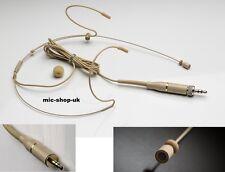 Dual Hook Headset Microphone For 3.5mm Stereo Jack Wireless Belt Packs