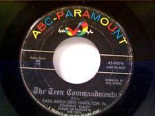 """PAUL ANKA / GEO HAMILTON IV / JOHNNY NASH """"TEEN COMMANDMENTS"""" 45"""