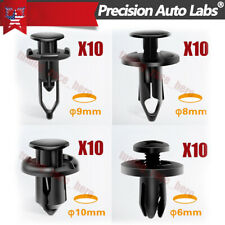 Universal 40Pcs Plastic Fender Clip Push Bumper Fastener Rivet for Ford GM Chevy