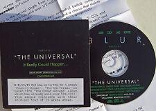 BLUR CD The Universal UK 1 Track PROMO in Card Slip In Sleeve + PRESS RELEASE