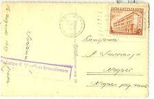 ODONATA RPPC POSTCARD LATVIA 1939 POSTAL SLOGAN POŠATIES 4.VIENĪBAS BRAUCIENAM