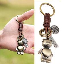 Femme Porte-clé Porte-clef Ours Bouton Alliage Joli Bear Rétro Cuir tricote Mode