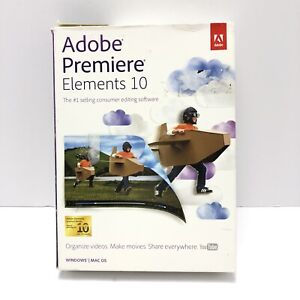 Adobe Photoshop Premiere Elements 10 for PC & MAC Brand New Sealed