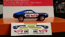 hot wheels custom amx ed shavers reproduction  decals