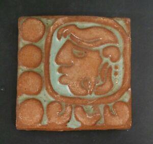 Vintage Batchelder Mayan Tile Teal