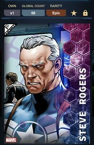 Topps Marvel Collect Standoff Steve Rogers 1st Print Digital 68cc!