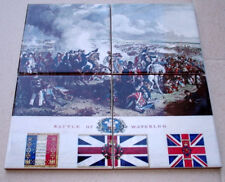 BATTLE OF WATERLOO  4 piece Ltd. Edition Full Colour CERAMIC TILE SET rare