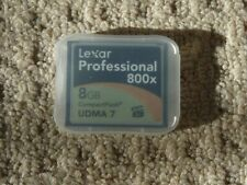 Lexar Professional CF Card 8GB 800x in Case Excellent Condition