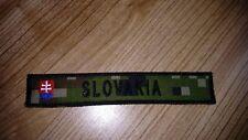 SLOVAK ARMY MILITARY STRIP FLAG DIGITAL FOREST CAMO VELCRO PATCH