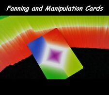 Fanning & Manipulation Cards Card Flourishes Magic Trick Solid Rainbow Corners
