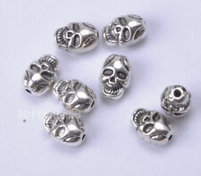 20 pcs Tibetan Silver skull bead charm loose beads 10x7.5mm B740