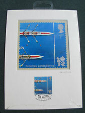London 2012 Olympic/Paralymic Royal Mail STAMP PRINT ARTWORK ROWING  Ltd Ed
