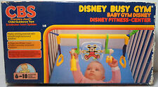CBS WALT DISNEY BUSY GYM BABY FITNESS CENTER 80'S PRETEND TOY NEEDS REPAIR HTF