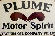 PLUME MOTOR SPIRIT  Classic  Auto Memorabilia Metal tin Sign ALL WEATHER