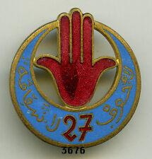Insigne tirailleurs algériens , 27  RTA.  (  croissant bleu  )