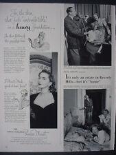 1951 Princess Murat Pond's Vanishing Cream Cosmetics Vintage Print Ad 12338