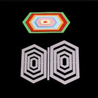 Stanzschablone Sechseck Geometrie Weihnachten Hochzeit Geburtstag Karte Album