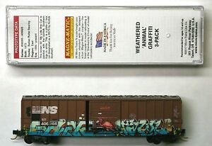 """MTL Micro-Trains 25730 Norfolk Southern NS 406166 """"Flamingo""""FW Factory Weathered"""